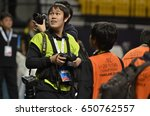 Small photo of AFC Photographer Official during AFC U20 FUTSAL CHAMPIONSHIP 2017 final match Thailand and Indonesia at Bangkok Arena Stadium on May22,2017 in Bangkok,Thailand.