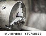 metal part of the bench lathe | Shutterstock . vector #650768893