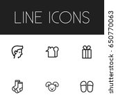 set of 6 editable kin icons....