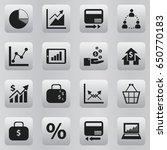 set of 16 editable logical... | Shutterstock .eps vector #650770183