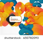 abstract color geometric round... | Shutterstock . vector #650782093