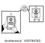 people sending and receiving... | Shutterstock .eps vector #650784283
