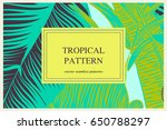 wild vector banner with... | Shutterstock .eps vector #650788297