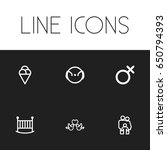 set of 6 editable family icons. ...