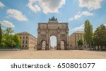 the siegestor  victory gate  in ... | Shutterstock . vector #650801077