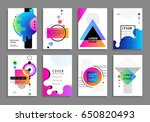 covers with minimal design.... | Shutterstock .eps vector #650820493