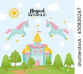 magical world greeting card.... | Shutterstock .eps vector #650830267