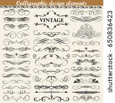 illustration set of vintage... | Shutterstock . vector #650836423