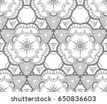 seamless abstract floral... | Shutterstock .eps vector #650836603