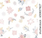 vector floral background ... | Shutterstock .eps vector #650837827