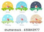 vector set of illustrations of... | Shutterstock .eps vector #650843977