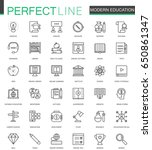 modern education thin line web... | Shutterstock .eps vector #650861347
