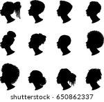 african american profile... | Shutterstock .eps vector #650862337
