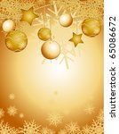 christmas background... | Shutterstock .eps vector #65086672