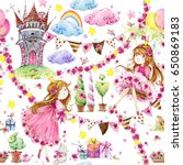 watercolor seamless pattern... | Shutterstock . vector #650869183
