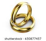 3d render of golden rings...   Shutterstock . vector #650877457