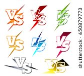 versus or vs confrontation... | Shutterstock .eps vector #650879773