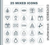 celebration icons set.... | Shutterstock .eps vector #650882653
