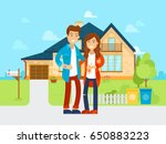 young people bought the new... | Shutterstock .eps vector #650883223
