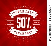 sale banner or badge vector... | Shutterstock .eps vector #650883277
