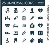 medicine icons set. collection... | Shutterstock .eps vector #650888023
