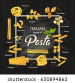 different types of italian... | Shutterstock .eps vector #650894863
