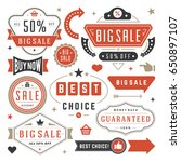 sale badges and tags design... | Shutterstock .eps vector #650897107