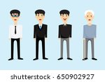 men from school age to old age. | Shutterstock .eps vector #650902927