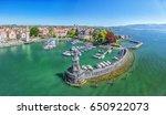 harbor on lake constance in... | Shutterstock . vector #650922073