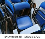 blue chair at the backstage | Shutterstock . vector #650931727