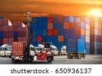 logistics and transportation of ... | Shutterstock . vector #650936137