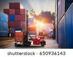 industrial container cargo... | Shutterstock . vector #650936143