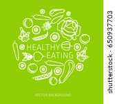 concept of healthy eating ... | Shutterstock .eps vector #650937703