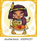 thanksgiving theme  cute...   Shutterstock .eps vector #65094157