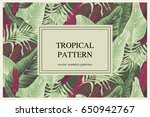 vector banner with tropical... | Shutterstock .eps vector #650942767