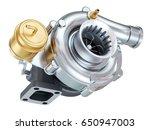 car turbocharger. auto parts.... | Shutterstock . vector #650947003