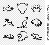 wild icons set. set of 9 wild... | Shutterstock .eps vector #650947933