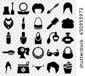 glamour icons set. set of 25... | Shutterstock .eps vector #650955973