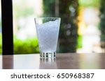 cold glass  ice in clear glass  | Shutterstock . vector #650968387