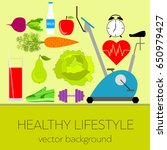 concept of a healthy lifestyle  ... | Shutterstock .eps vector #650979427