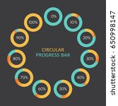 set of circular progress bar... | Shutterstock .eps vector #650998147