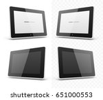 mobile device hd tablet... | Shutterstock .eps vector #651000553