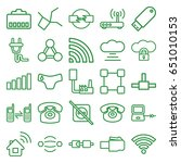 connect icons set. set of 25... | Shutterstock .eps vector #651010153