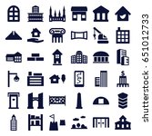 architecture icons set. set of... | Shutterstock .eps vector #651012733