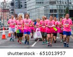a mixed gender hen party... | Shutterstock . vector #651013957