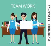 business concept   team work... | Shutterstock .eps vector #651037423