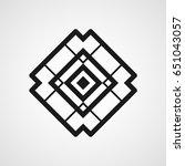 ornamental black logo template... | Shutterstock .eps vector #651043057