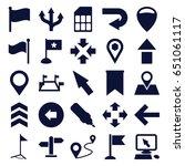 pointer icons set. set of 25... | Shutterstock .eps vector #651061117