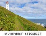 Small photo of Vardo Lighthouse on the arctic bird colony island Hornoya, Finnmark, Norway