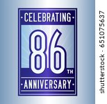 86 years anniversary design... | Shutterstock .eps vector #651075637